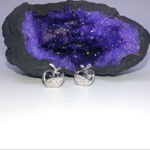 Silver Apple 🍎 Stud Earrings